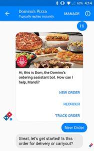 Browse Menu And Order Food On Facebook Messenger